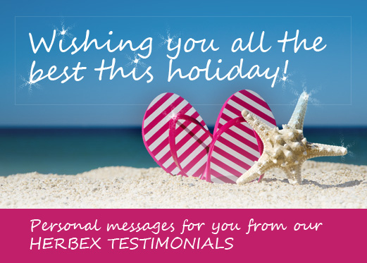 Special Season's Greetings From Our Herbex Testimonials